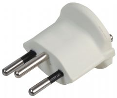 POWERCONNECTIONS SCH3-WH.  White Schuko To Swiss Grounded Cvt Plug